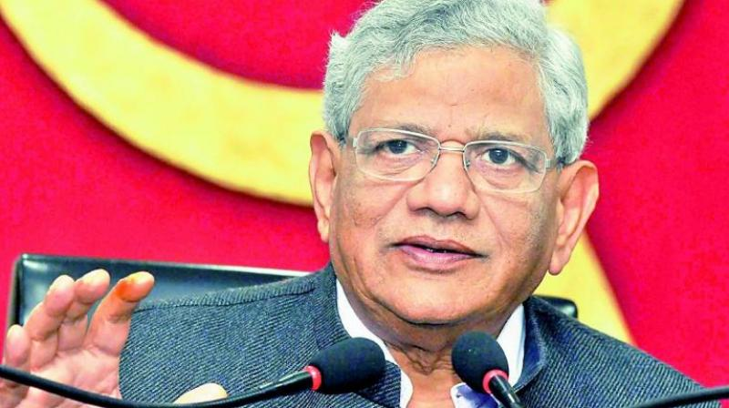 Yechury also launched a manifesto which includes reforms in the agriculturesector. (Photo: PTI)