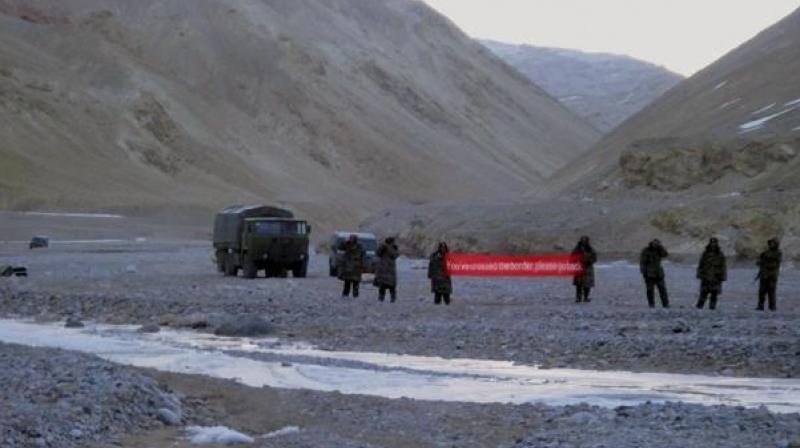 After Chinese troopers found their path blocked by Indian soldiers, who formed a human chain, they began hurling stones, prompting a swift retaliation by Indian border guards. (Photo: PTI/File)