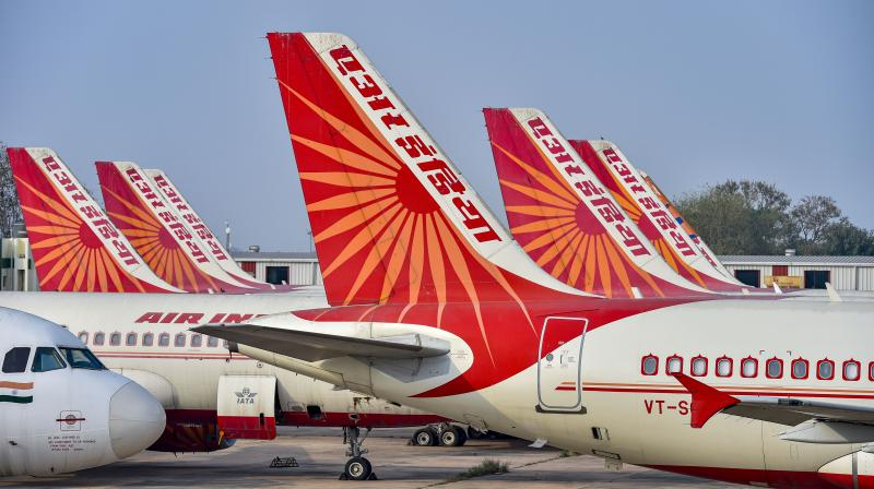 It is been made clear to the babus in the civil aviation ministry that the divestment of Air India is the top priority of the government this year. (PTI Photo)