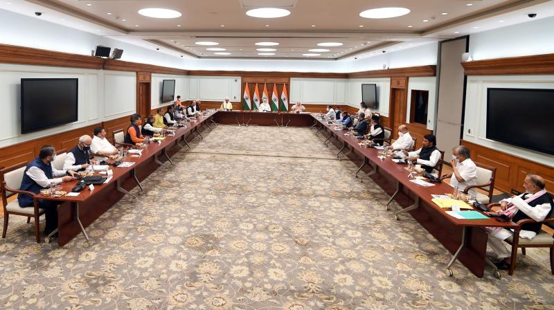 Prime Minister Narendra Modi met Jammu and Kashmir leaders on Thursday. (Photo: Twitter/@narendramodi)