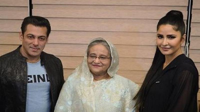 Salman Khan, Katrina Kaif with Bangladesh PM Sheikh Hasina. (Photo: Instagram)