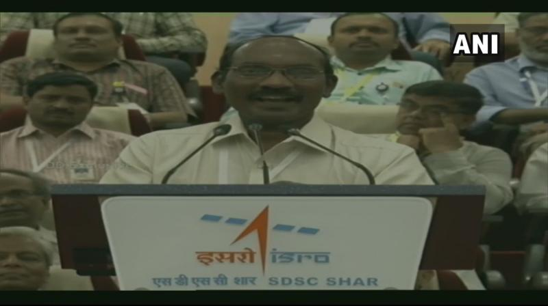 ISRO chairman K Sivan spoke right after the successful injection of the Chandrayaan-2 into Earth orbit. (Photo: ANI)