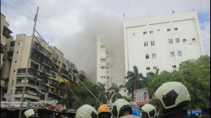 Rescue operations at MTNL building in Bandra