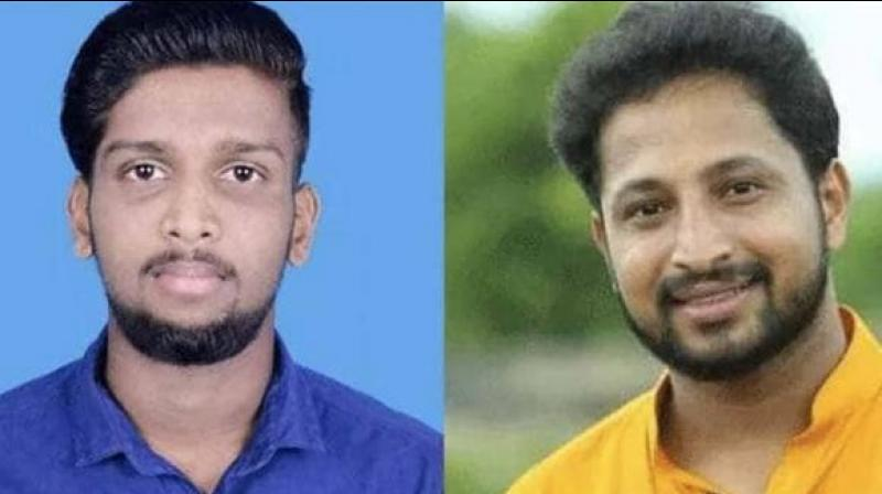 Congress workers Kripesh and Sarath Lal were attacked while they were on a motorcycle. (Photo: Twitter | @IYC)
