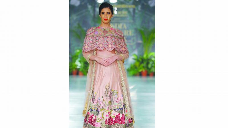 Outfit by Rahul Mishra's collection 'Maraasim'