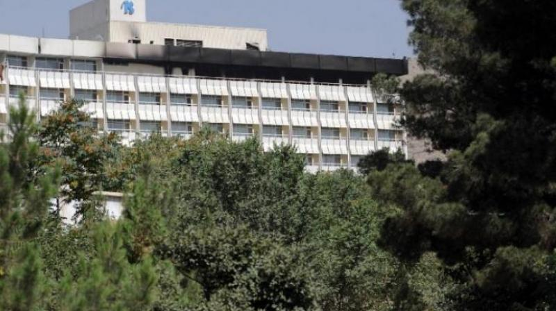 At least four gunmen attacked Kabul's landmark Intercontinental Hotel. (Photo: AFP/Twitter)