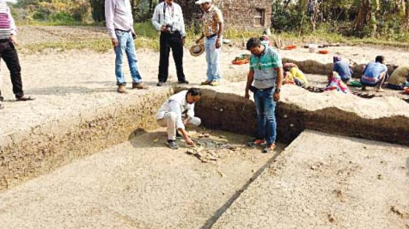 Archaeologists at the site in Odisha.(Photo: Asian Age)