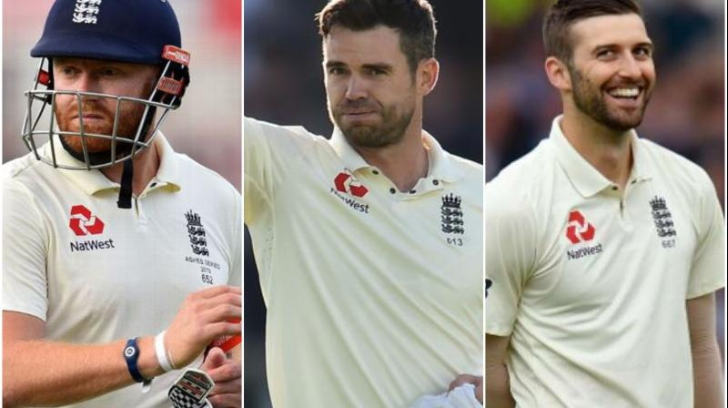 James Anderson, Jonny Bairstow and Mark Wood returned to England's Test squad for South Africa series. (Photo:AFP)