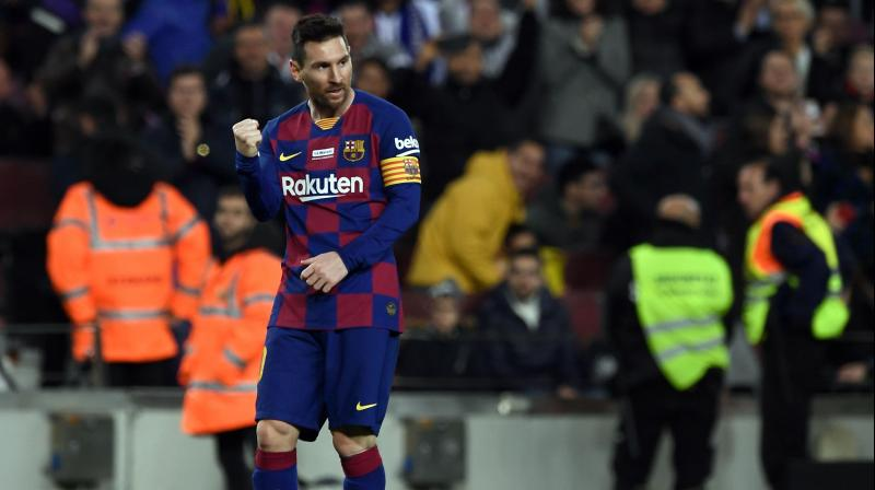 Barcelona coach Ernesto Valverde hailed striker Lionel Messi, saying that scoring a hat-trick was the perfect way to celebrate the Ballon d'Or award. (Photo:AFP)