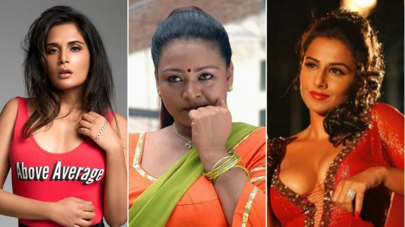 Richa Chadha, Shakeela and Vidya Balan.