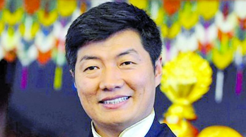 Tibet government in exile head Lobsang Sangay.