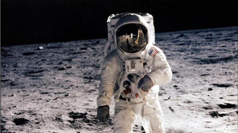 July 20, 1969 Photo when astronaut Buzz Aldrin, lunar module pilot, walks on the surface of the moon during the Apollo 11 extravehicular activity (EVA). - On July 21, 1969, US astronaut Neil Armstrong is the first man to step onto the Moon, his teammate Edwin Aldrin joining him around 20 minutes later. (Photo: AFP | File)
