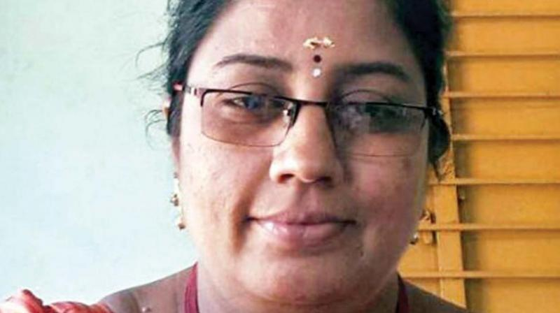 Devi, assistant professor at private Devanga Arts College in Aruppukottai affiliated to the MKU, was arrested on April 16 last year on a complaint by the college and a women's forum after an audio-clip of her purported conversation with students went viral on social media. (Photo: File)