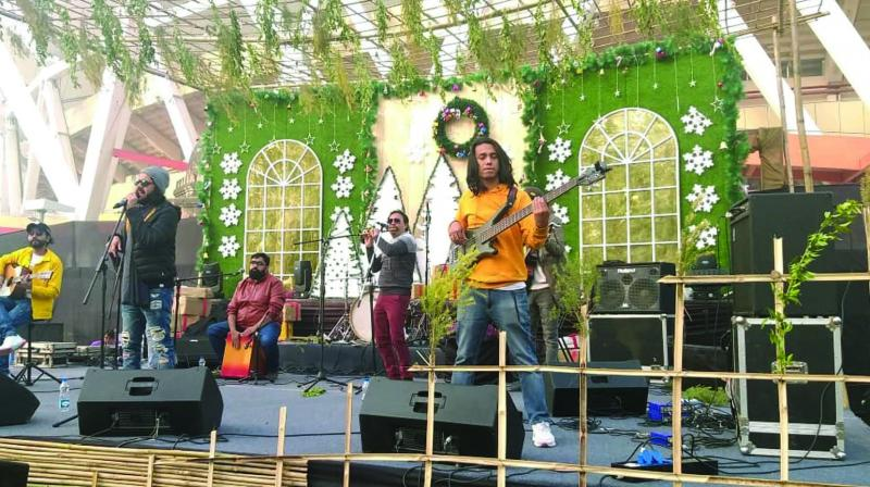 A still of the live performance at the Winter Bazaar