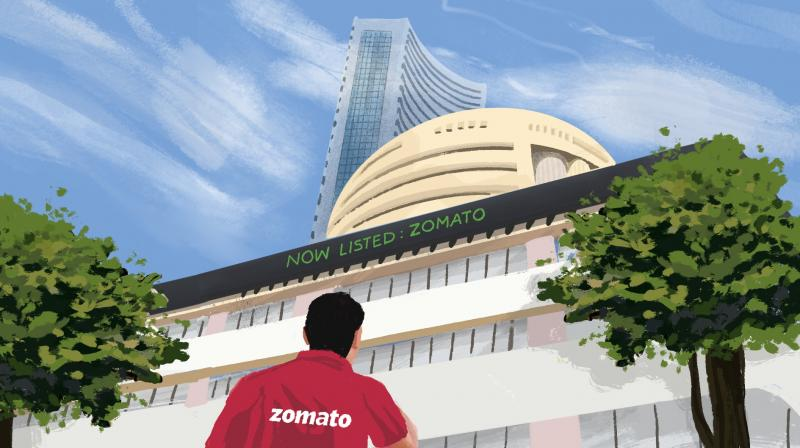 The company is the first in Indian unicorn startups to launch an IPO. (Twitter/@zomatoin)