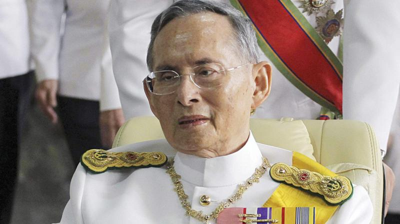 A file photo of Thailand's King Bhumibol Adulyadej. (Photo: AP)