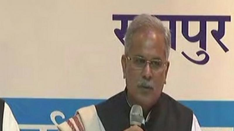 Chhattisgarh CM Bhupesh Baghel also announced to form an SIT to probe May 25, 2013, Jhiram Ghati Naxal attack, in which 29 people including prominent Congress leaders were killed. (Photo: ANI)