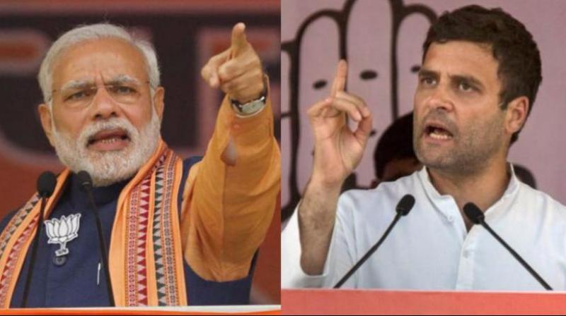 Congress chief Rahul Gandhi recently accused PM Modi of humiliating his guru Lal Krishna Advani by denying the BJP veteran a Lok Sabha ticket. (Photo: File)