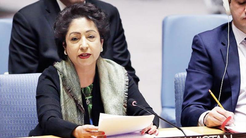 'Those who talk of changing mindset need to look within, at their own record of subversion against my country as our capture of an Indian spy has proven beyond doubt,' Permanent Representative of Pak to the UN Maleeha Lodhi said. (Photo: File | AP)