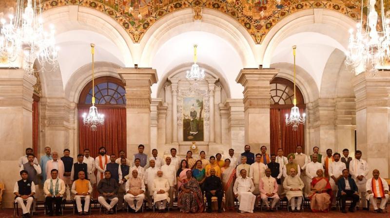 PM Modi-led BJP govt's new Union Cabinet Ministers. (Photo: Twitter/@narendramodi)