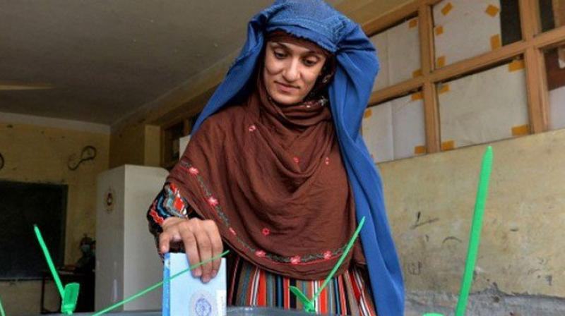 About 9.6 million Afghans in the war-torn nation -- with an estimated population of 35 million -- had registered to vote in the election, which was held at 4,905 polling centres. (Photo: AFP)
