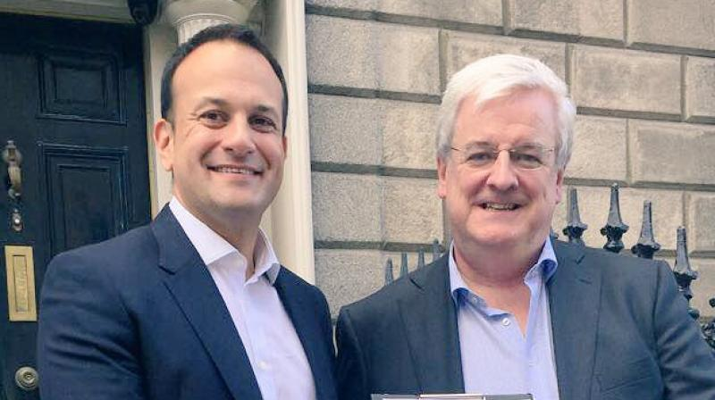 Varadkar (left) campaigned on same-sex marriage and liberalising abortion laws, although, like the majority of his party colleagues, he is an advocate of tight fiscal restraint. (Photo: Twitter)