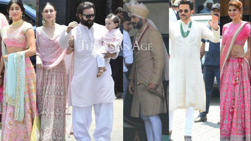 Family and friends including Bollywood stars started arriving for the wedding of Sonam Kapoor with Anand Ahuja in Mumbai on Tuesday. (Photo: Viral Bhayani)