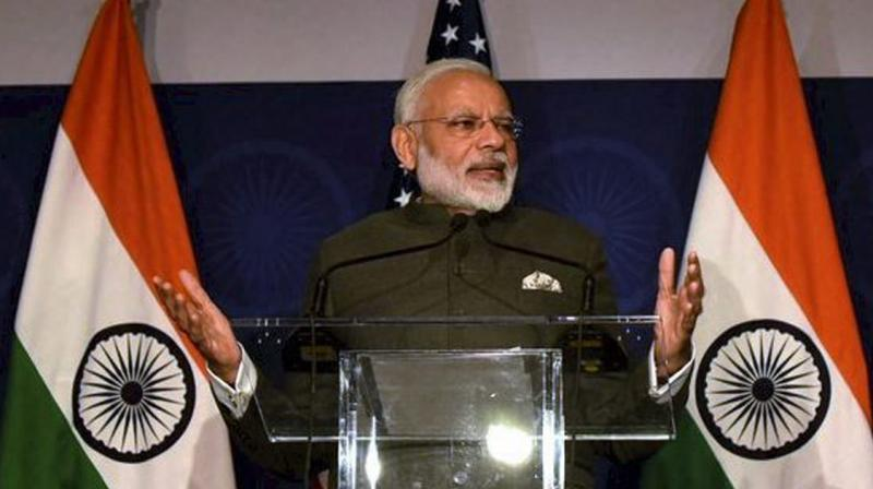 Prime Minister Narendra Modi addressing at the United States Community Reception in Washington DC. (Photo: AP)