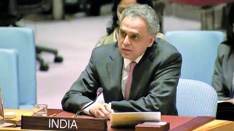 Syed Akbaruddin, India's permanent representative at the UN