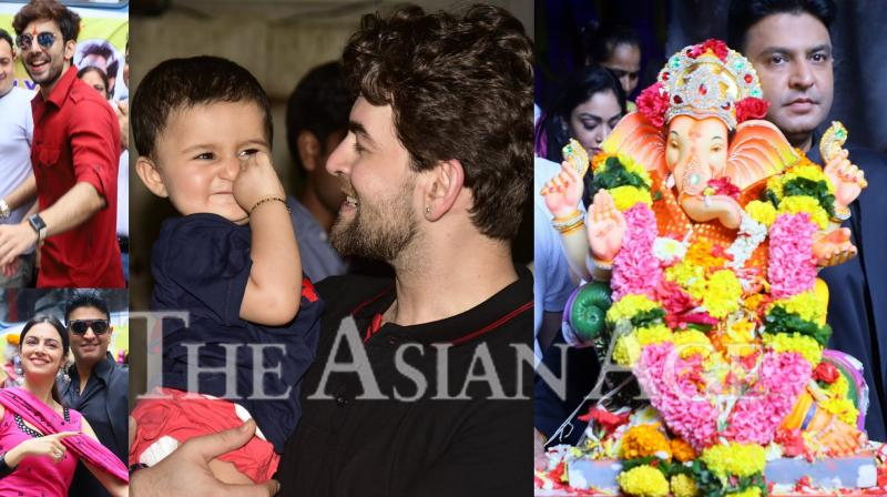 On Thursday, people bid adieu to lord Ganesha after worshipping him for 11 days during Ganpati festival. Like commoners, Bollywood celebs like Bhushan Kumar and Neil Nitin Mukesh were also seen saying good bye to 'Bappa' and chanted, 'Ganpati Bappa Morya'. (Photos: Viral Bhayani)