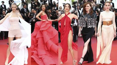 Top actors, singers from around the world graced the prestigious Cannes red carpet on Day 2.