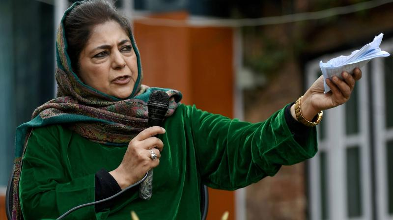 Jammu and Kashmir former chief minister and Peoples Democratic Party (PDP) President Mehbooba Mufti. (PTI)