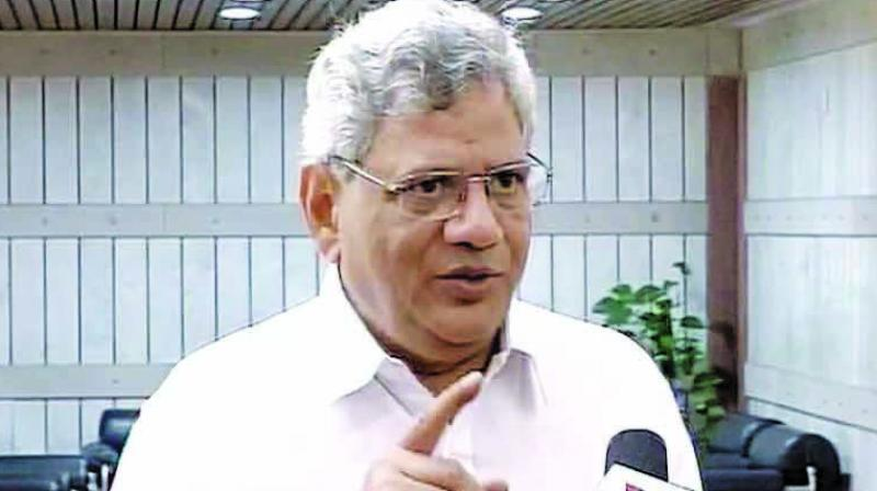 CPI(M) general secretary Sitaram Yechury on Monday condemned the police action on protesting students of the Jawaharlal Nehru University, saying it was not the right way to deal with democratic protests. (Photo: File)