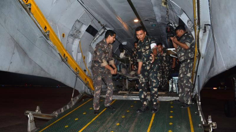 The drill took off from Air Force Station Chabua in Assam to Netaji Subhash Chandra Bose International Airport in Kolkata and further on to Command Hospital at Alipore by road. (Photo: Asian Age)