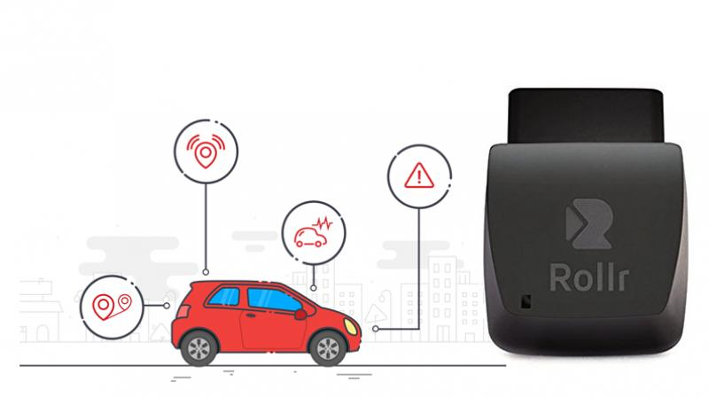 The Rollr Mini is a tiny device that latches into your vehicle and keeps a track of the engine health and driving behaviour apart from its location on GPS.