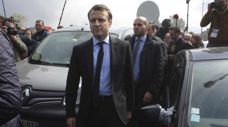 French centrist presidential election candidate Emmanuel Macron (Photo: AP)