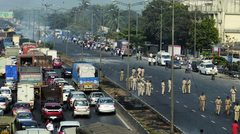 File image of the disruption caused on city highways.