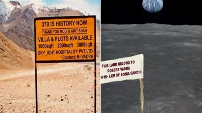 After removal of Jammu and Kashmir's special status people from the rest of the country can now buy land there, which is what the memes are based on. (Photo: ANI)