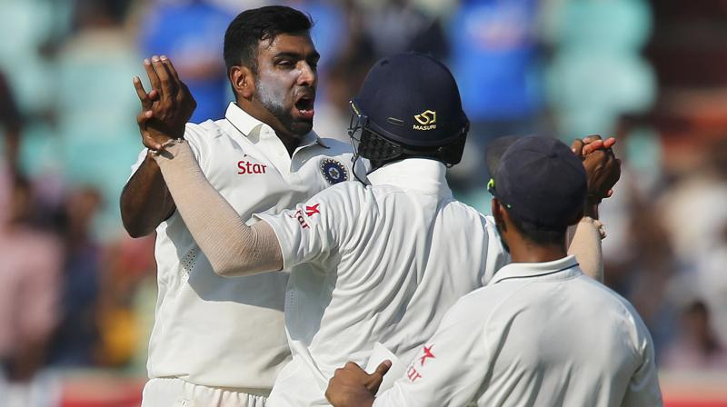 Ravichandran Ashwin starred with the bat and ball to put India on top. (Photo: PTI)