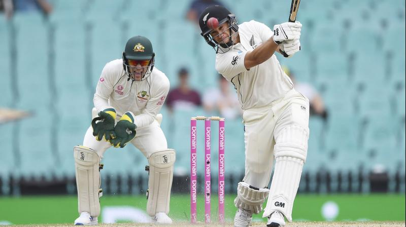 Ross Taylor became New Zealand's highest run-scorer in the longest form of the game on Monday when he hit three runs through mid-on after tea on the fourth day of the third test against Australia. (Photo:AP)