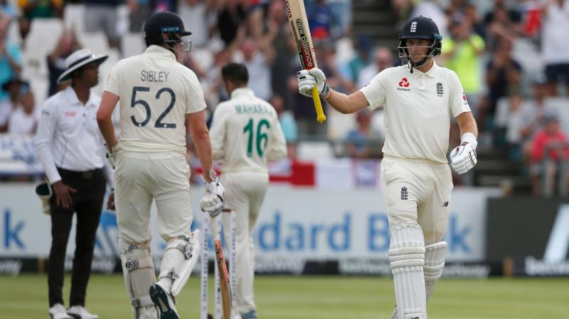 Dominic Sibley, Joe Root put England in command of second test while England captain Joe Root scored 61 as England seized control of the second test against South Africa at the close of the third day at Newlands on Sunday, grinding down their hosts ahead of a fourth innings victory charge. (Photo:AFP)