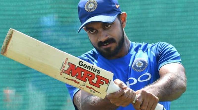 All-rounder Vijay Shankar was named captain of the Tamil Nadu team for the Ranji Trophy, beginning on December 9. (Photo:AFP)