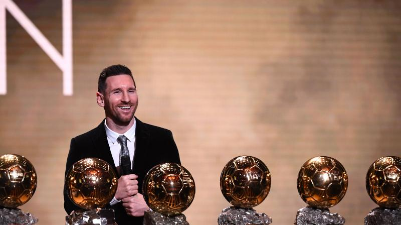 Lionel Messi won a record-breaking sixth Ballon d'Or on Monday after another sublime year for the Argentinian, whose familiar brilliance remained undimmed even through difficult times for club and country. (Photo:AFP)