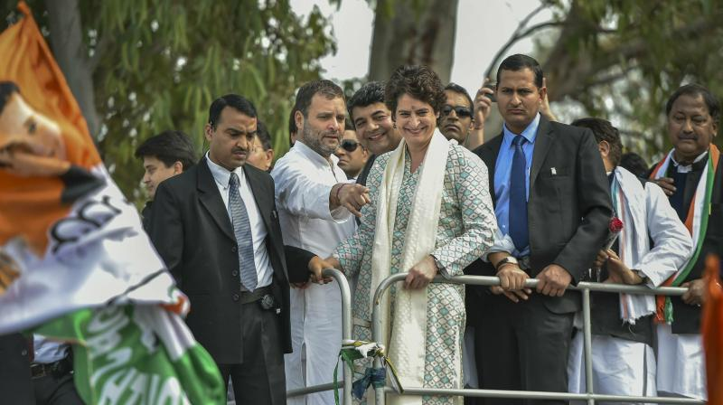 The grand roadshow is likely to and pass through places such as Hussainganj and Hazratganj before culminating at the Uttar Pradesh Congress Committee office. (Photo: INC Congress)