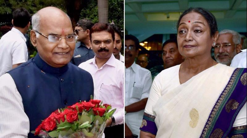 Ram Nath Kovind, NDA's candidate and the former Bihar governor, is contesting against the Opposition's joint candidate and former Lok Sabha speaker Meira Kumar. (Photos: PTI)