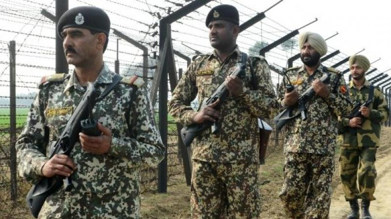 BSF personnel spotted some suspicious movement near the fence along the Indo-Pak border, a BSF official said. (Representational Image)