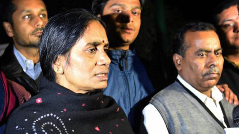 Nirbhaya's parents Badrinath Singh and Asha Devi. (Photo: PTI)