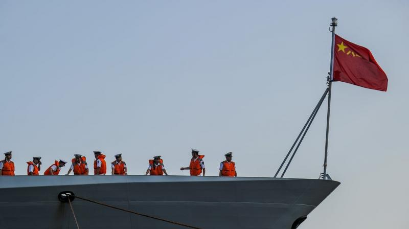 Chinese Navy warships dock at Karachi port. (Photo: Representational/AFP)