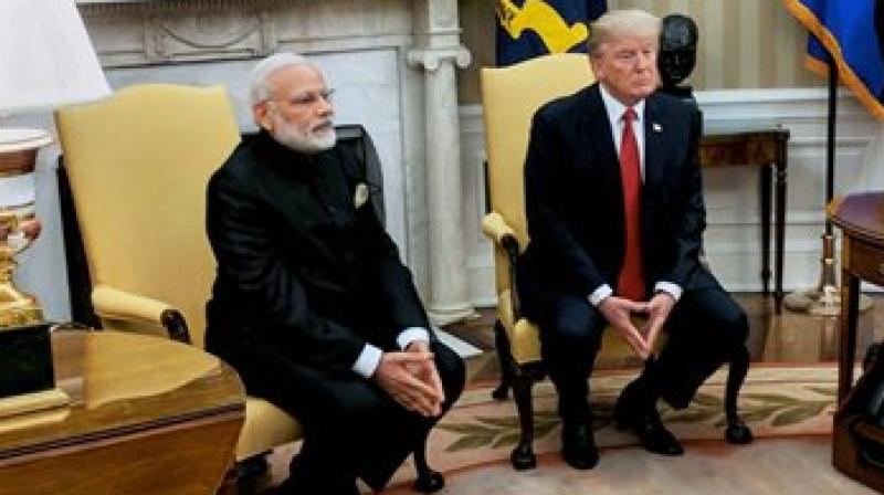 President Donald Trump meeting Indian Prime Minister Narendra Modi in the Oval Office of the White House in Washington. (Photo: AP)