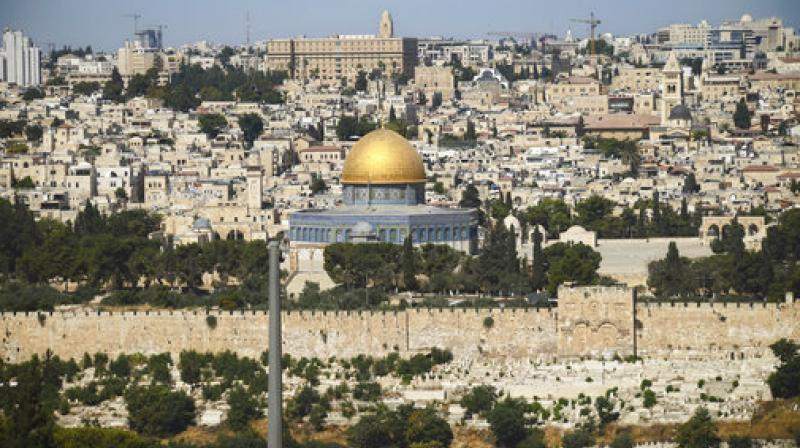 The Dome of the Rock Mosque in the Al Aqsa Mosque compound is seen in Jerusalem's Old City. (Photo: AP)